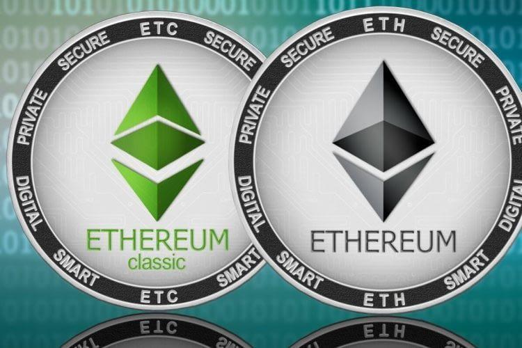 Рисунок 5: логотипы Ethereum Classic (ETC) и Ethereum (ETH)