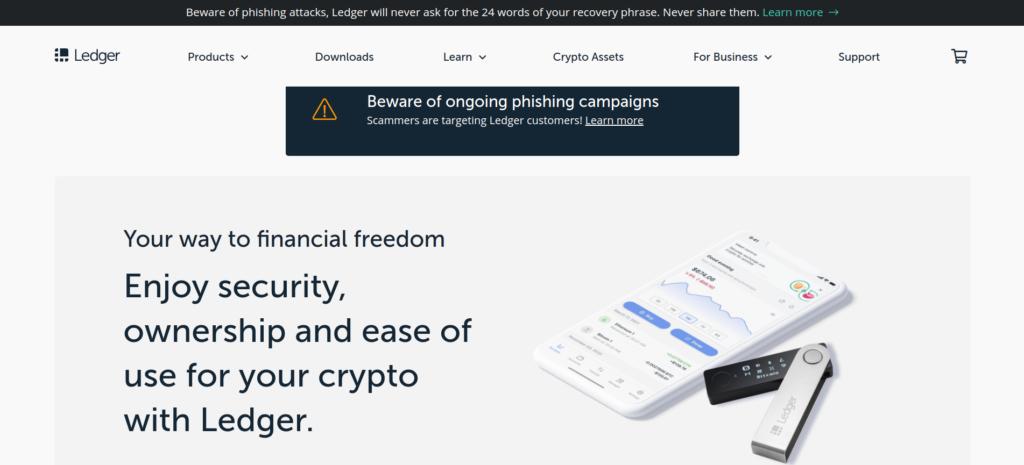 Ledger.com предупреждает об активизации мошенников